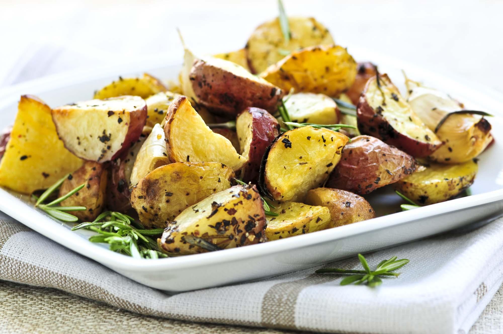 Balsamico bagte kartoffler
