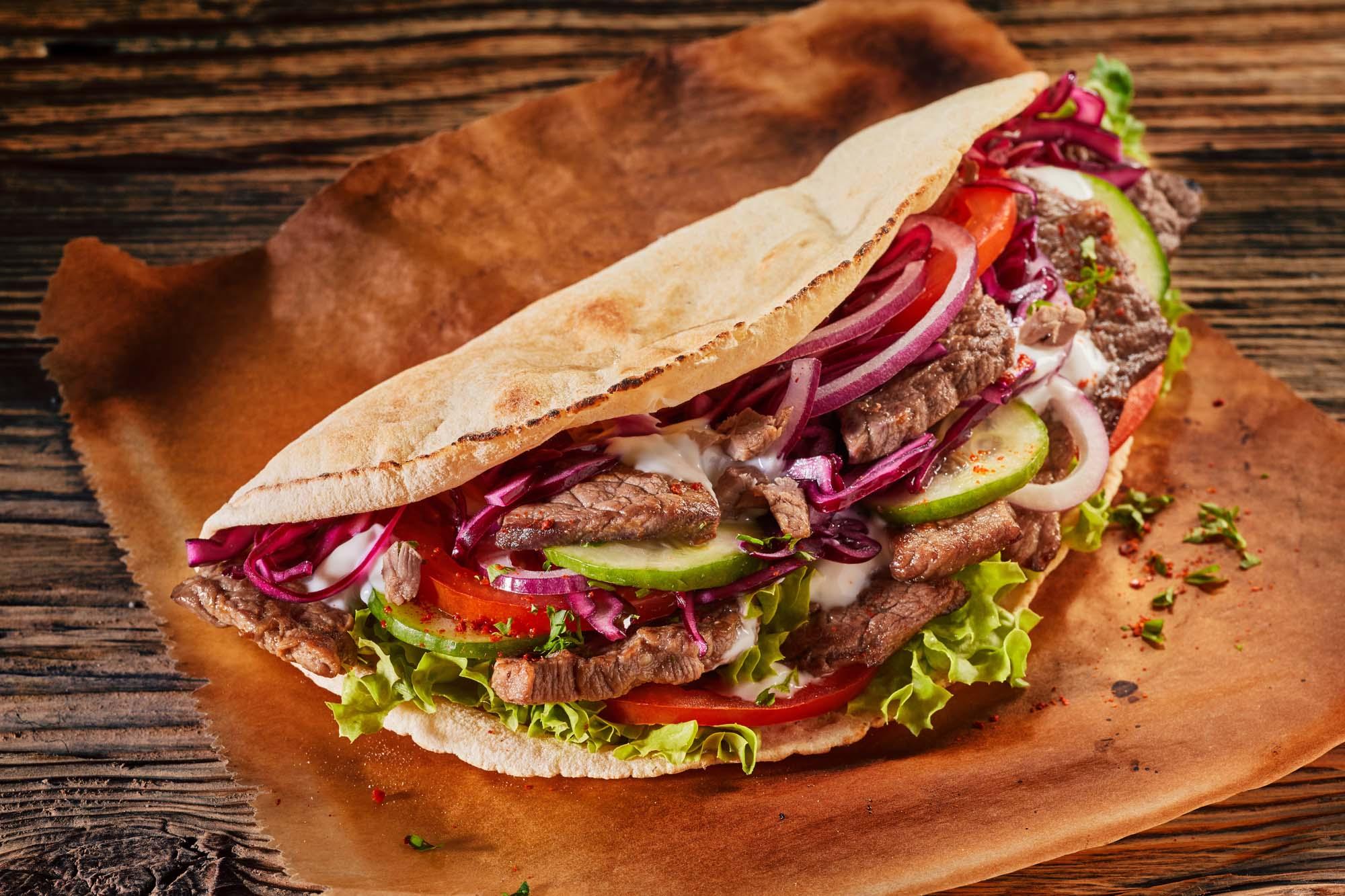 Shawarma med pitabrød