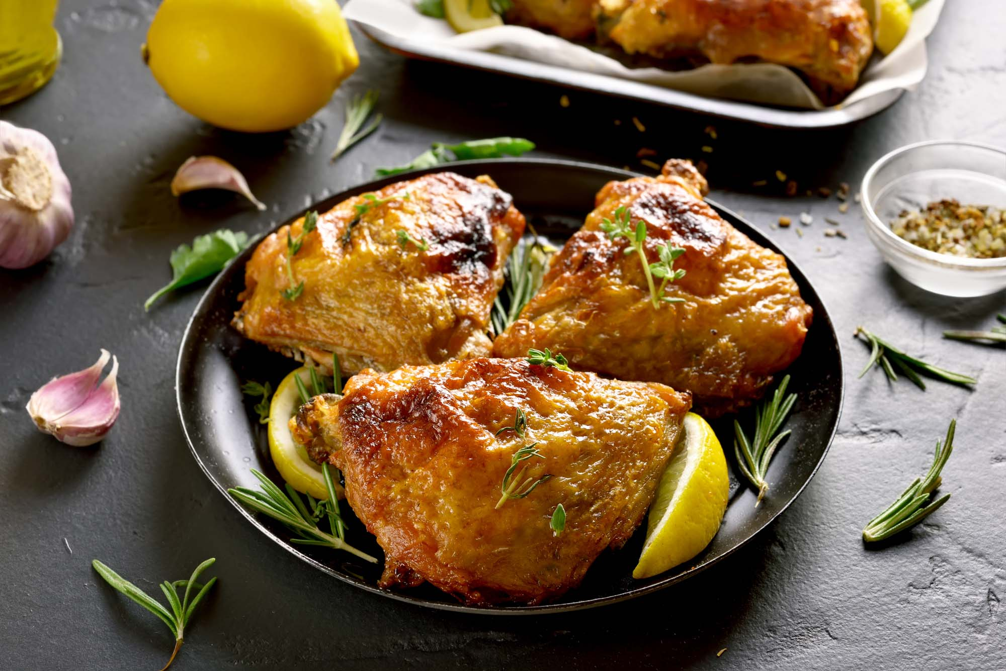 Smørstegt kylling med timian